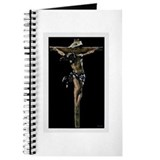 Catholic crusifix Journals & Spiral Notebooks