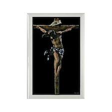 Jesus on the Cross Rectangle Magnet
