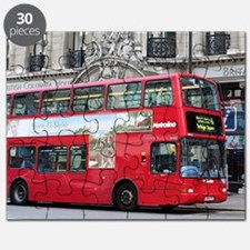 Red London Double Decker Bus, England Puzzle