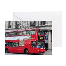 Red London Double Decker Bus, Englan Greeting Card