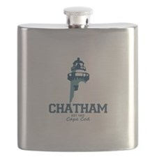 Chatham. Cape Cod. Lighthouse Design. Flask