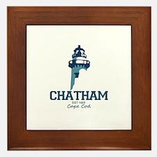 Chatham. Cape Cod. Lighthouse Design. Framed Tile