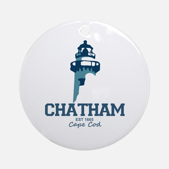Chatham. Cape Cod. Lighthouse Des Ornament (Round)