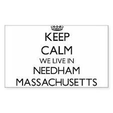Keep calm we live in Needham Massachusetts Decal