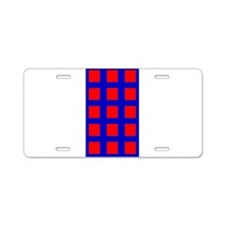 Blue Red Spirit Tick Tack T Aluminum License Plate