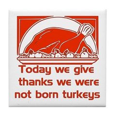 Thanksgiving Humor Blessing Tile Coaster