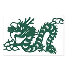 Dragon Chinese East Asian Postcards (Package of 8)