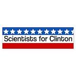 Scientists For Hillary Clinton Bumper Sticker