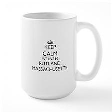Keep calm we live in Rutland Massachuse Mugs