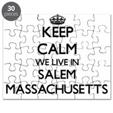 Keep calm we live in Salem Massachusetts Puzzle
