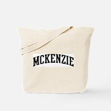 MCKENZIE (curve-black) Tote Bag