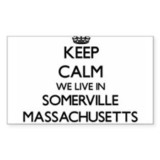 Keep calm we live in Somerville Massachuse Decal