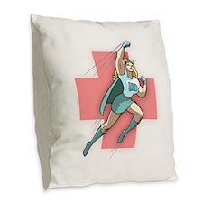 Remarkable Nurse Burlap Throw Pillow