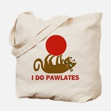 I Do Pawlates Cat and Exercise Humor Tote Bag