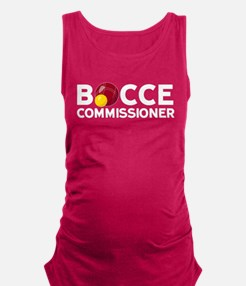 Bocce Commisioner Maternity Tank Top