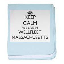 Keep calm we live in Wellfleet Massac baby blanket