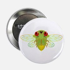 "Cute Green Cicada 2.25"" Button"