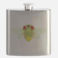 Cute Green Cicada Flask