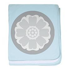 White Lotus Tile baby blanket