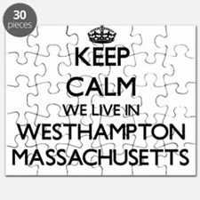 Keep calm we live in Westhampton Massachuse Puzzle
