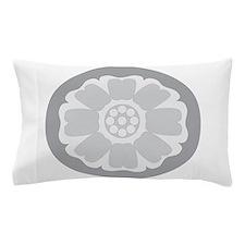 White Lotus Tile Pillow Case