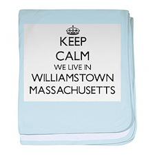 Keep calm we live in Williamstown Mas baby blanket