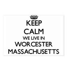 Keep calm we live in Worc Postcards (Package of 8)