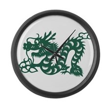 Dragon Chinese East Asian Astrolo Large Wall Clock
