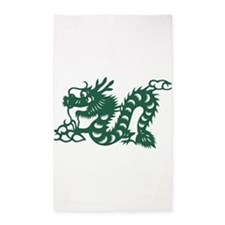 Dragon Chinese East Asian Astrology Zodia Area Rug