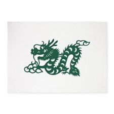 Dragon Chinese East Asian Astrology 5'x7'Area Rug