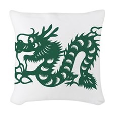 Dragon Chinese East Asian Astr Woven Throw Pillow