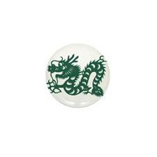 Dragon Chinese East Asian As Mini Button (10 pack)