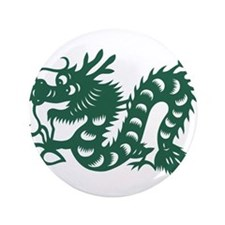 "Dragon Chinese East Asian Astrology Zo 3.5"" Button"