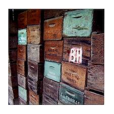 Antique Wooden Boxes Decorative Tile
