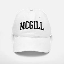 MCGILL (curve-black) Baseball Baseball Cap