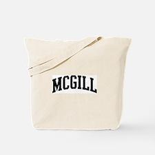 MCGILL (curve-black) Tote Bag