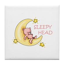 Sleepy Head Tile Coaster