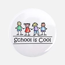 """School Is Cool 3.5"""" Button"""