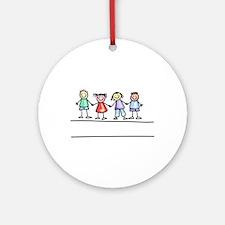 Schoolchildern Ornament (Round)