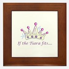 If The Tiara Fits... Framed Tile