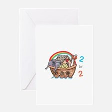 Two By Two Greeting Cards