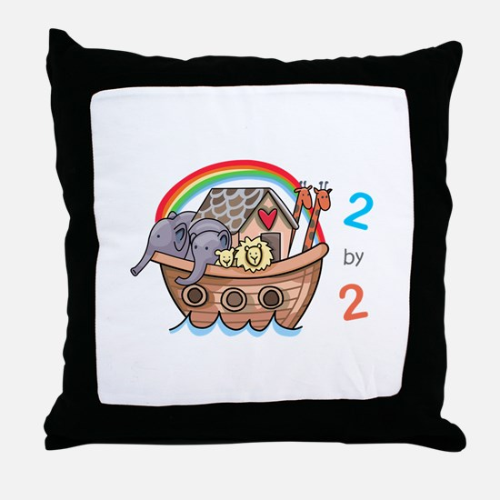 Two By Two Throw Pillow