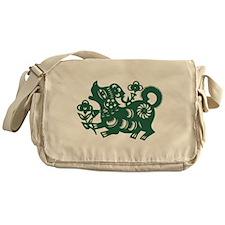 Dog Chinese East Asian Astrology Zod Messenger Bag
