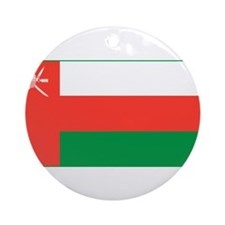 Oman Flag Ornament (Round)