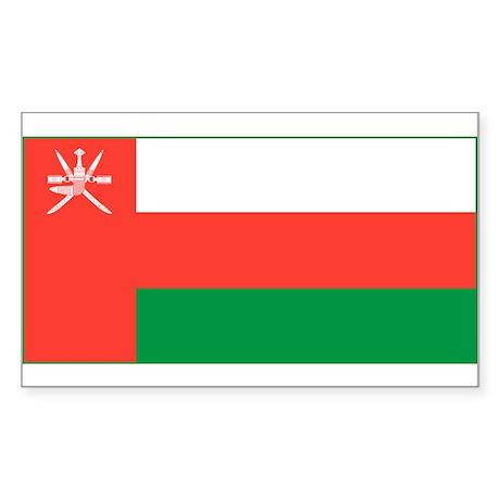 Oman Flag Rectangle Sticker