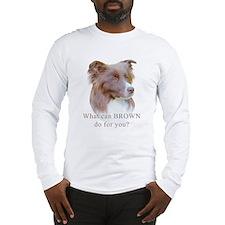 Border Collie BROWN Long Sleeve T-Shirt