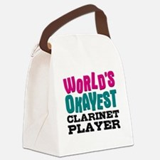 World's Okayest Clarinet Player Canvas Lunch Bag