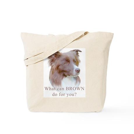 Border Collie BROWN Tote Bag