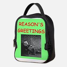 Funny Atheist Neoprene Lunch Bag