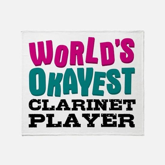 World's Okayest Clarinet Player Throw Blanket
